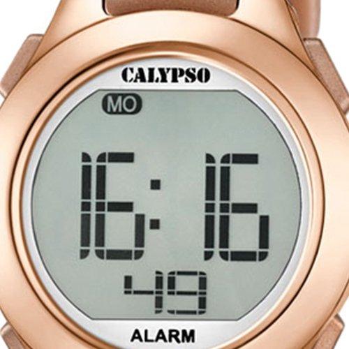 Calypso - Reloj Digital Unisex con Pantalla LCD y Correa de plástico de Color Dorado K5677/3: Amazon.es: Relojes