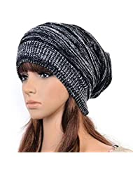 Bluelans® Hot Fashion Slouch Baggy Beanie Cap Slouchy Skull Hat Mens Womens Knit Hat (Black)