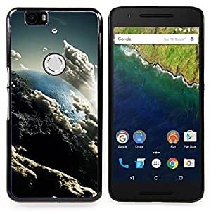 "Qstar Arte & diseño plástico duro Fundas Cover Cubre Hard Case Cover para Huawei Google Nexus 6P (Nubes Cielo Arte Tierra Sun Ambiente"")"