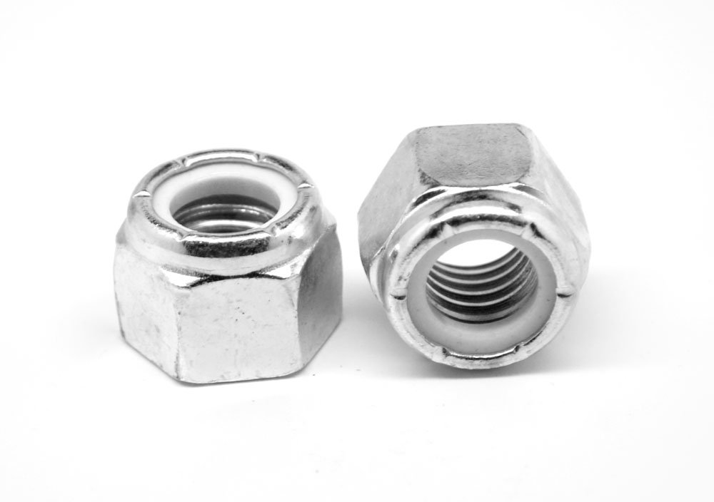 M16 x 2.00 Coarse Thread DIN 985 Class 10 Nyloc (Nylon Insert Locknut) Standard Medium Carbon Steel Zinc Plated Pk 100 by ASMC Industrial