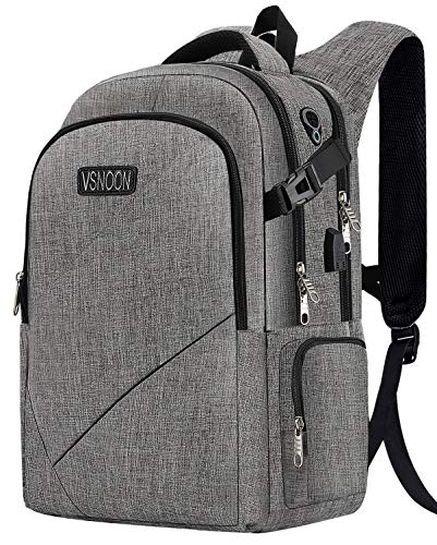 Business Laptop Backpack, Anti-Theft Travel Lapto p Backpacks for Women Men with USB Charging Port&Headphone Interface , Large Compartment College School Bag Fits 17 Inch Laptop&Notebook