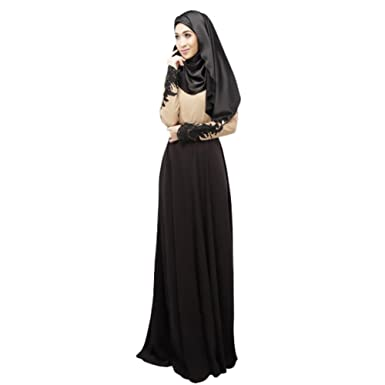 Maxi dresses with sleeves for muslimah image