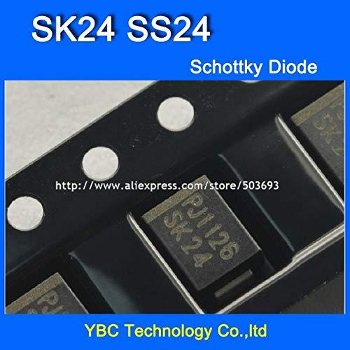 MAO YEYE 500pcs/lot SK24 SS24 SMB 2A/40V Schottky Diode