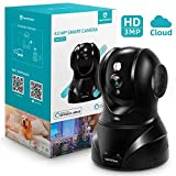 Heimvision HM302 3MP Security Camera, 2K HD Wifi Camera with Night Vision/PTZ/2-Way Audio, 2.4Ghz Wireless Home IP Indoor Camera for Pet/Baby/Elder/Dog Camera Monitor, Cloud Service, Compatible with Alexa
