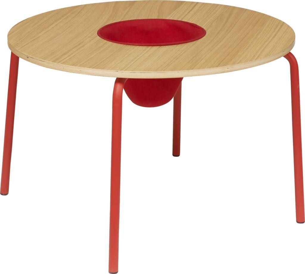 Habitat - Hester Table ronde pour enfants - Rouge, Naturel ...