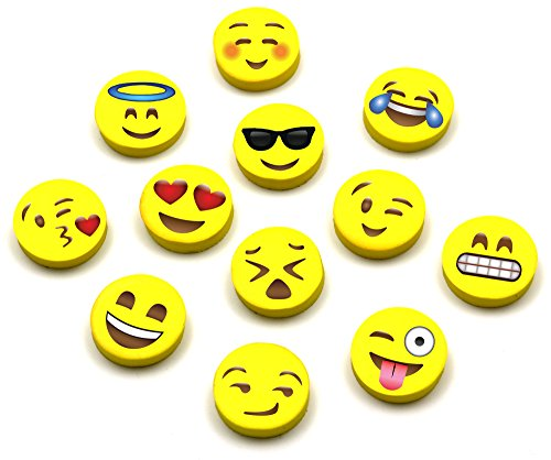 Emoji Pencil Erasers (60-Pack), Super Cute, Fun and Functional, Great as Gifts for Kids, Incentives, Prizes, Party Favors, Classroom Rewards and School Supplies - Erase Very Well, Child-Safe BPA Free Photo #4