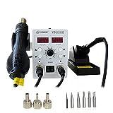 YAOGONG 8586 2 In 1 Digital Rework Station & Soldering Station Hot Air Soldering Mobile Phone Repair Tools