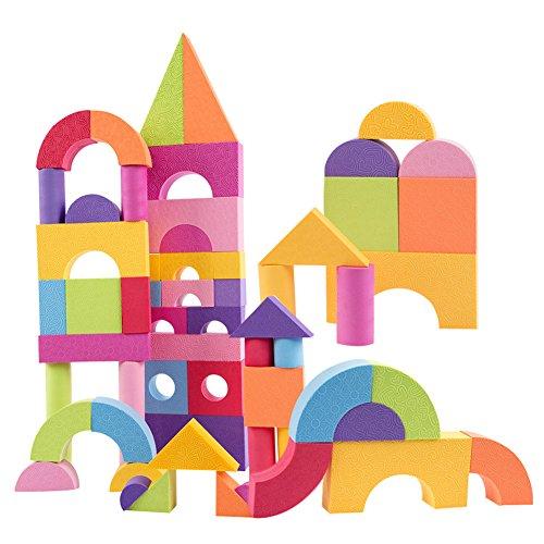per 50pcs Ultra-Light Building Blocks Set Colorful EVA Foam Bricks Set Kids Infant Children Soft Educational Toy Gift ()