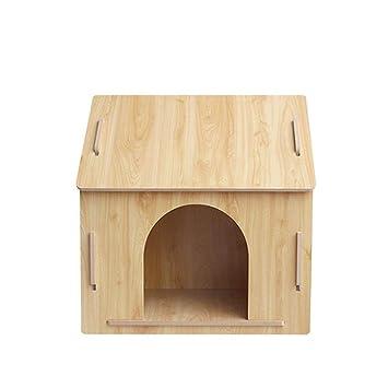 X&MX Casa de Perro de Madera Perro casa Mascota Lodge Perro Perrera Desmontable Perro casa Interior