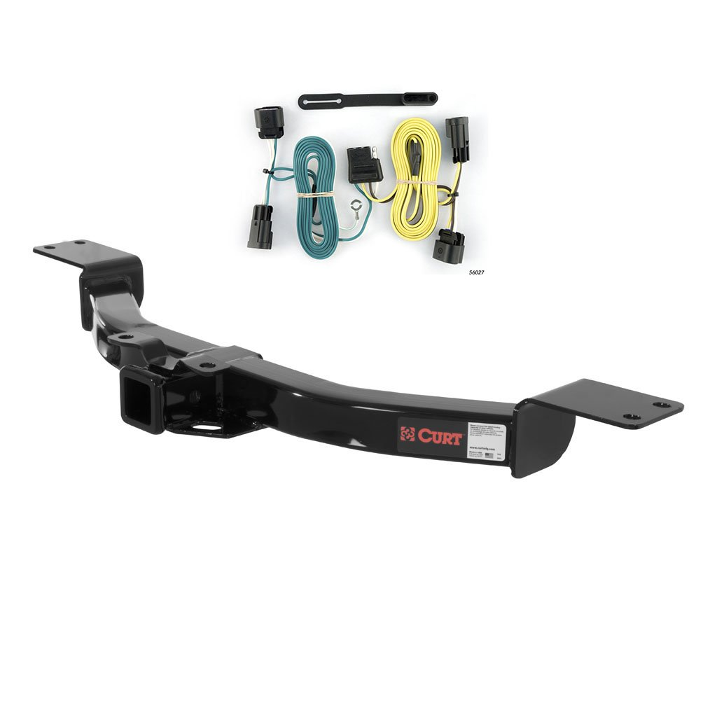 Curt Class 3 Trailer Hitch Bundle with Wiring for Buick Enclave Chevrolet Traverse - 13424 56027