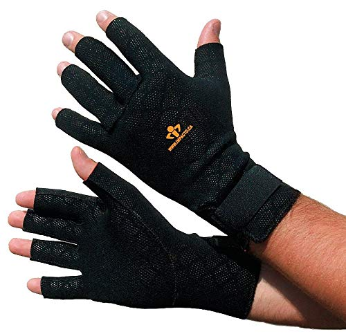 Impacto Anti-Vibration Gloves, Nylon Palm Material, Black, S, PR 1 - TS199S