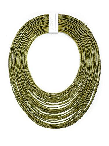 (ZENZII Multi Strand Statement Bib Necklace for Women (Green) )