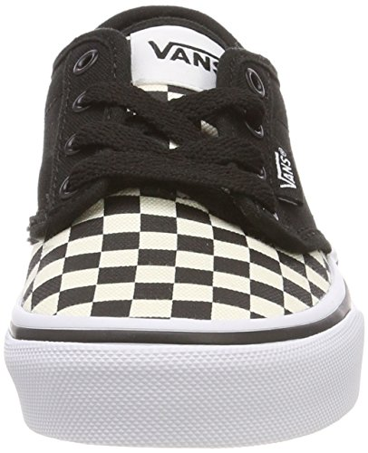 Vans Atwood, Zapatillas Unisex Niños Negro ((Checkerboard) Black/Classic White Ib8)