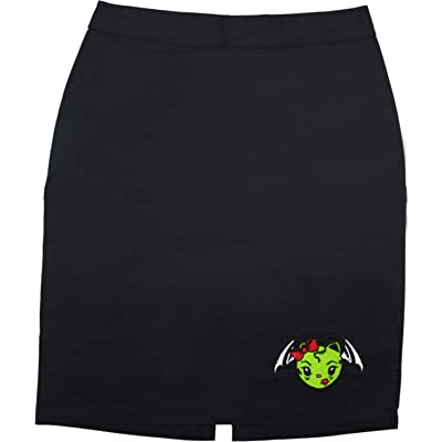 Sourpuss Vixen Zombie Bat Black Pencil Skirt from Clothing at Women's Clothing store