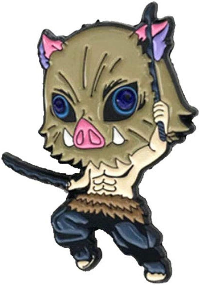 Kimetsu no Yaiba Tanjirou Nezuko Zenitsu Inosuke Giyuu Character Pin Badge Gift for Boys and Girls Demon Slayer