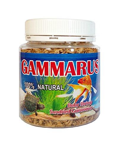 Prelestno.shop GAMMARUS - 100% NATURAL - Baby Shrimp Sundried Gammarus - 1,41 OZ - 300 (Baby Turtle Food)