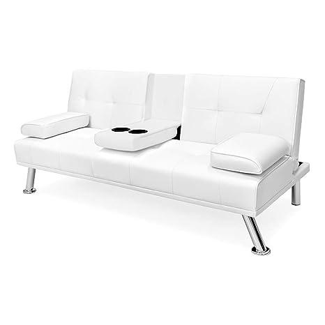 Prime Amazon Com Futon Sofa Bed Faux Leather Modern Style Bed Evergreenethics Interior Chair Design Evergreenethicsorg