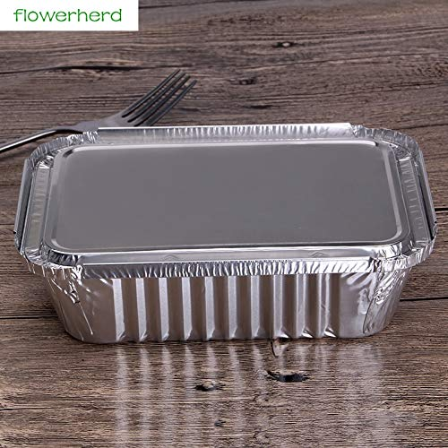 50pcs 600ml Thick Aluminum Loaf Baking Pans with Lids Cookin