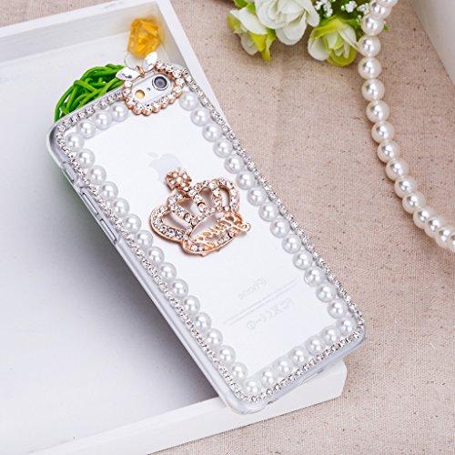 Infinite U Jewellery 3D Bling Strass Cristal Couronne Impérial Phone Case/Coque/Etui/Housse de Protection pour iphone 6/iphone 6s (4.7 Pouces)
