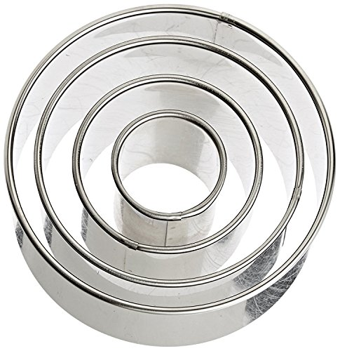 e Round Cutters in Graduated Sizes, Stainless Steel, 4 Pc Set ()