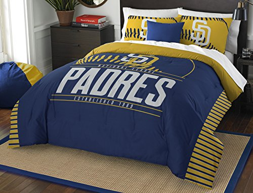 MLB San Diego Padres Grandslam Full/Queen Comforter and 2 Sham Set