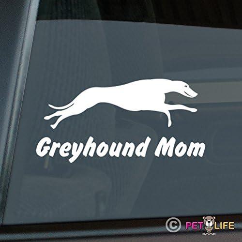 Greyhound Mom Sticker Vinyl Auto Window Running v2 English