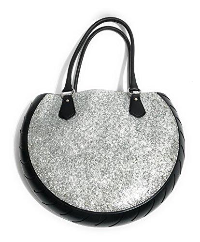 Ty's Bag , Damen Schultertasche Argento Glitterato