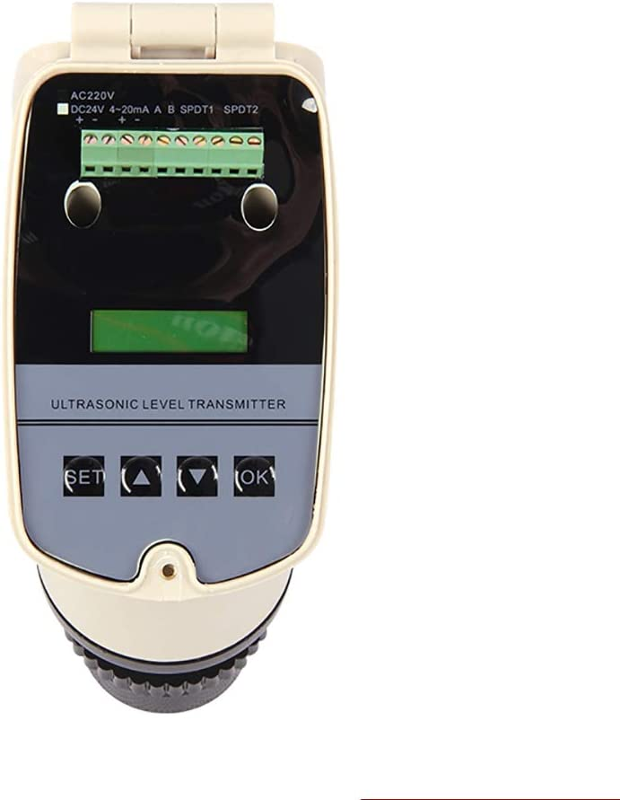 1m YJINGRUI integrated ultrasonic level meter ultrasonic level meter ultrasonic water level gauge DC24V level sensor 4-20MA