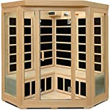 Cheap Crystal Sauna BH350 3-4 Person Corner Infrared Sauna