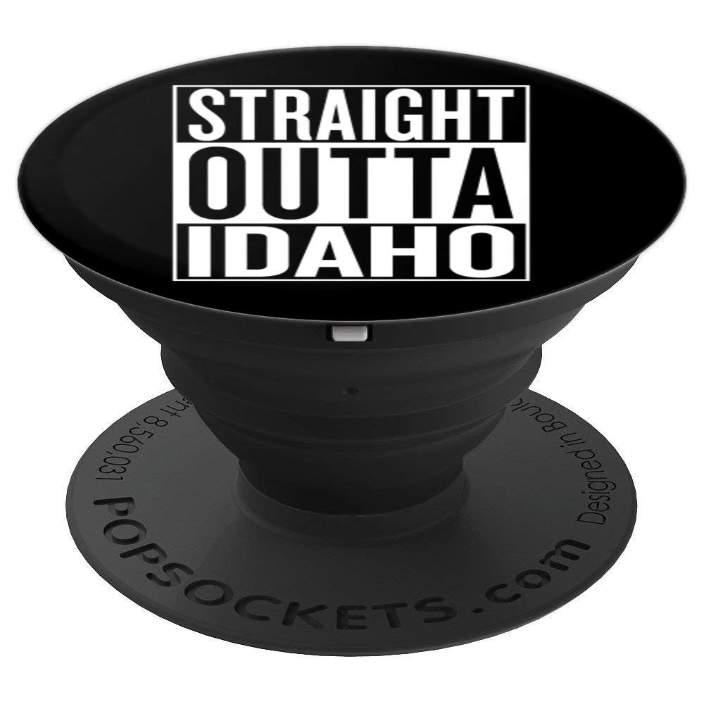 Straight outta Idaho Pop Socket Travel Gift Idea - PopSockets Grip and Stand for Phones and Tablets