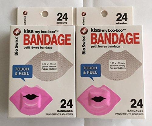Bandage Boo (Kiss-My-Boo-Boo Pink Lips Bandage)