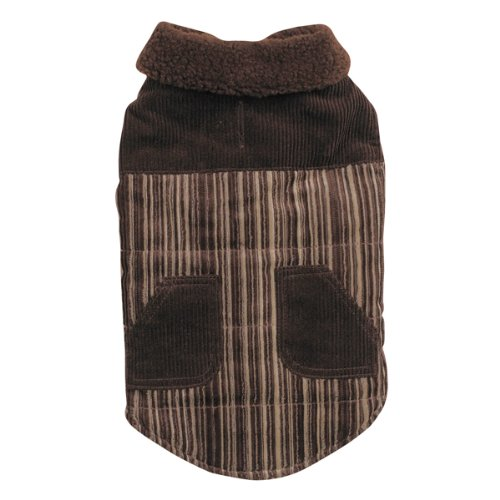 Zack and Zoey Polyester/Cotton Corduroy Ranch Dog Coat, XX-Large, Chocolate, My Pet Supplies