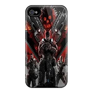 SherriFakhry Iphone 4/4s Protector Hard Phone Cases Allow Personal Design Stylish Gears Of War 3 Skin [gPF10855gBdS]