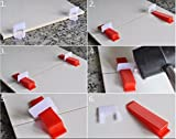 Anti Lippage Tile Leveling System Kit [100 Wedges, 200 Spacer Clips and 1 Plier Tool Gun] (2 MM Spacer Clips)