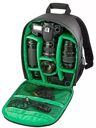 Mochila para cámara y accesorios máquina fotográfica - al Acquisto specificare el color del interior color naranja/rojo/verde: Amazon.es: Electrónica