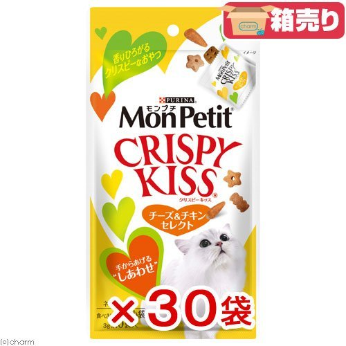 Purina MonPetit Crispy Kiss CheeseΧcken select 30 g×30