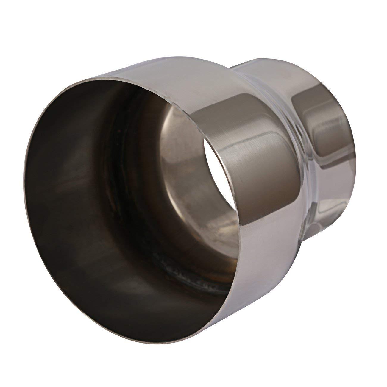 Silber JBP-X Universal 75 Mm-100 Mm Motorrad Ge/ändert Auspuff Rohr Adapter Reduzierer Anschluss Rohr Top4