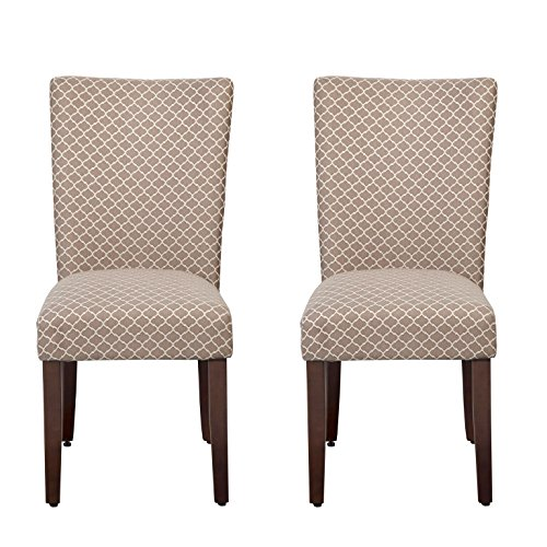Upholstered Classic Chair Parson (HomePop Parsons Classic Upholstered Accent Dining Chair, Set of 2, Brown)