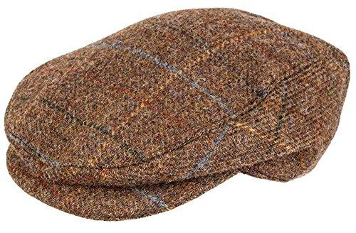 Dents Mens Abraham Moon Yorkshire Tweed Flat Cap - Chestnut Brown - -