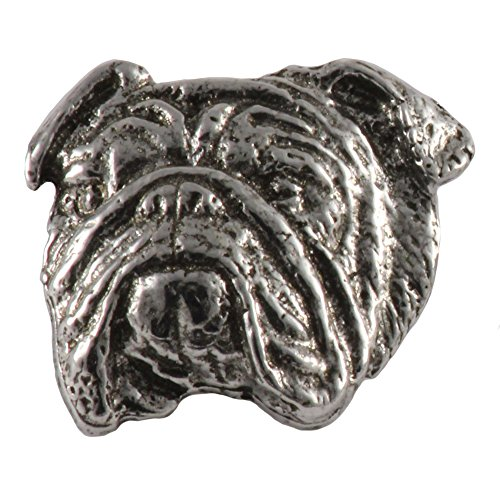 - English Bulldog Dog Pewter Lapel Pin, Brooch, Jewelry, D072