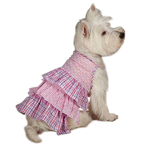 0 75 Summer Breeze Dress for Dogs, X-Small, Pink (Pink Gingham Dog Dress)