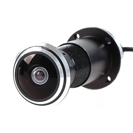 HD 170 Grados 1.78mm Ojo de Pez Gran Angular Ojo de Gato Vigilancia Agujero de