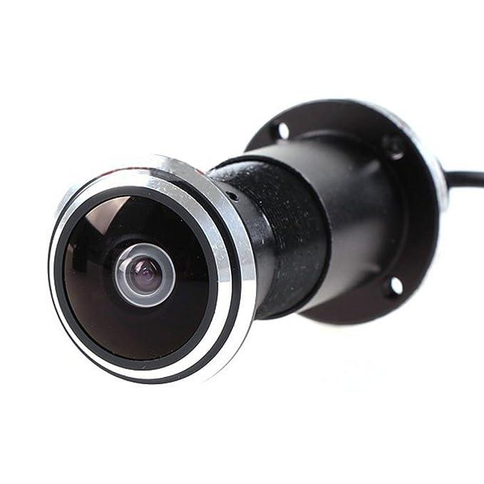 HD 170 Grados 1.78mm Ojo de Pez Gran Angular Ojo de Gato Vigilancia Agujero de la Puerta Cámara Bullet 800TVL Mirilla Video Seguridad CMOS Cámara CCTV: ...
