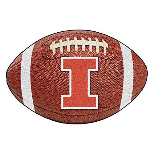 FANMATS NCAA University of Illinois Fighting Illini Nylon Face Football - Illinois Rug Football