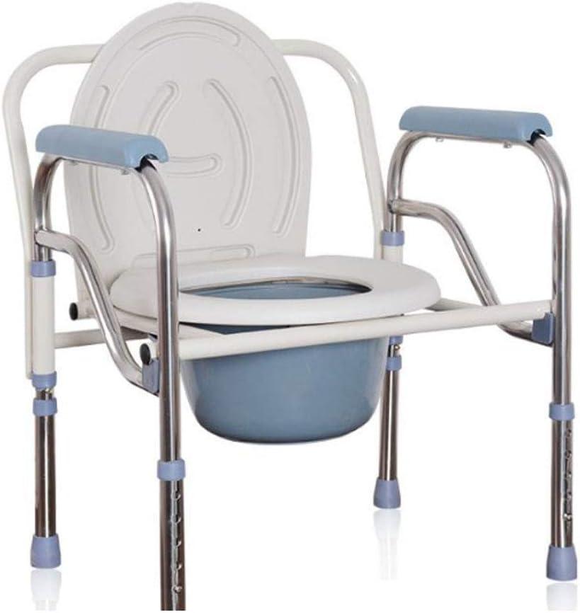 ZMIN Silla de WC, Tome la Silla/Silla de Aseo/baño de la Mujer Embarazada Silla/Silla de minusválidos WC Plegable WC