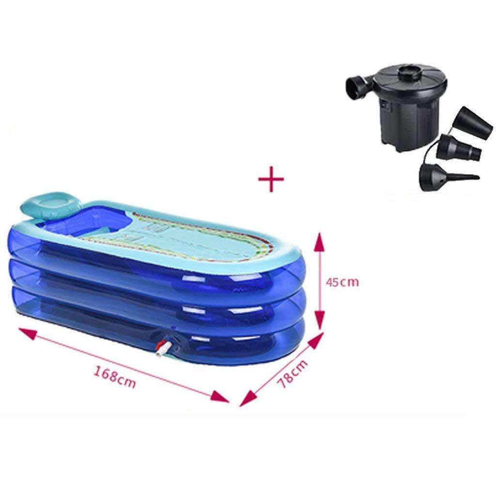 CN Badewanne /übergro/ße verl/ängerte aufblasbare Wanne Erwachsene Verdickung Wanne faltende Badewanne Plastikbadewanne Badewanne