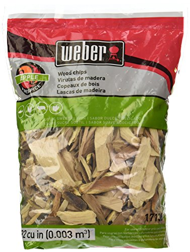 Weber Cubic Meter Stephen Products 17138 Apple Wood Chips, 192 cu. in. (0.003 cubi