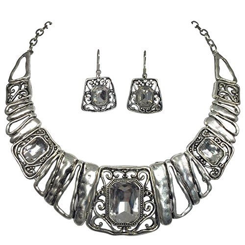 Boutique Burnished Statement Necklace Earrings product image