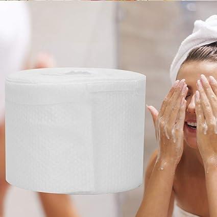 1 rollo (100 PCS) Toallitas desechables de algodón facial Algodón ...