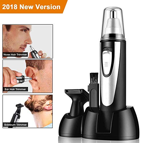 Nose Ear Hair Trimmer for Men Women, 2018 Professional Electric Nostril Nasal Hair Clippers, Waterproof, Wet/Dry, One Battery-Operated